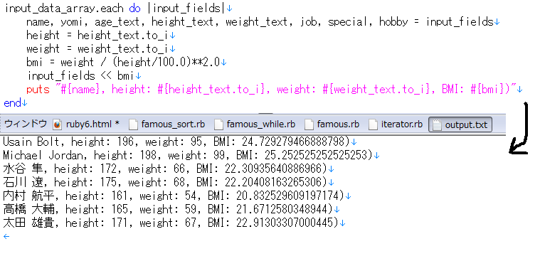 iterator sample